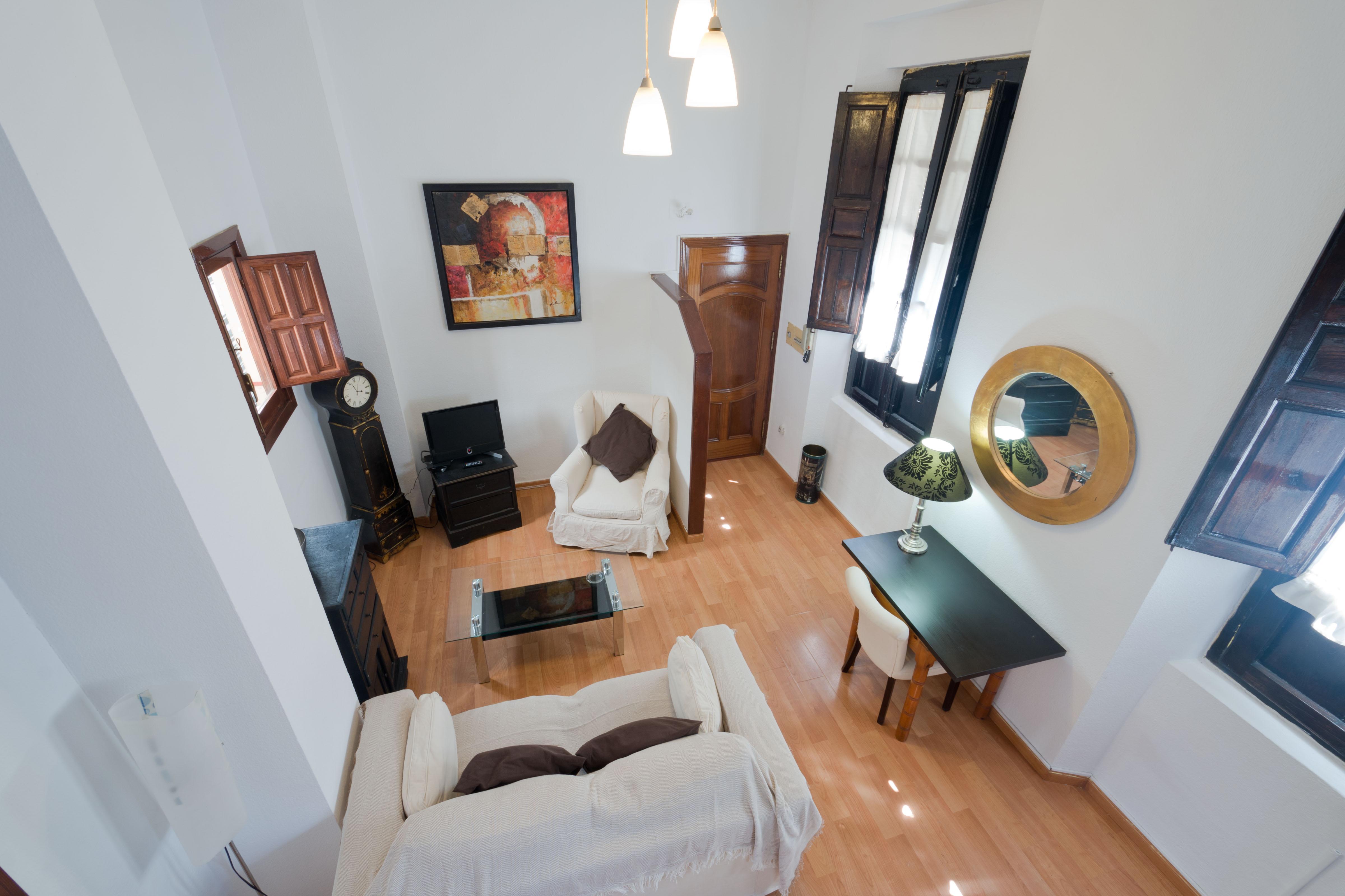 Bonito apartamento amueblado muy soleado con vistas a Catedral